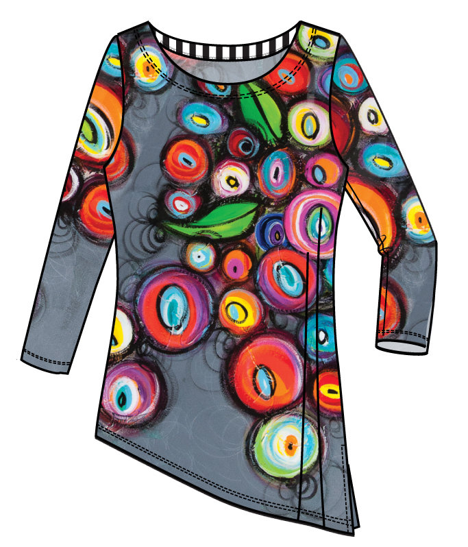 Simply Art Dolcezza: Colorblock Candy Bowls Glam Art Asymmetrical Tunic SOLD OUT DOLCEZZA_SIMPLYART_18650