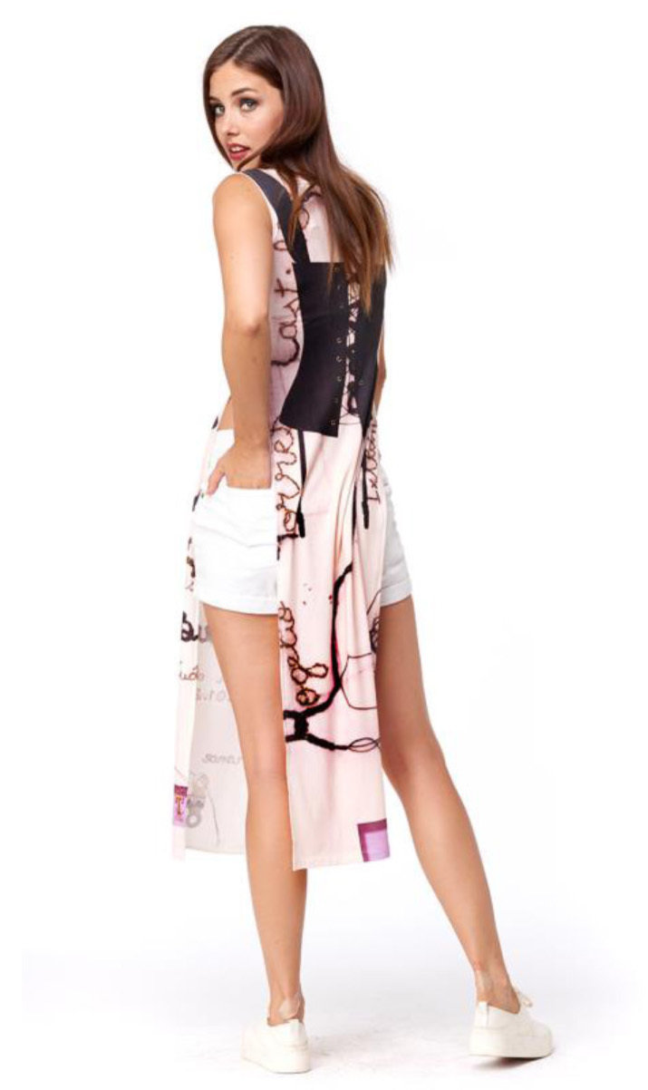 IPNG: Sexy Summer Corset Side Cutout Illusion Maxi Tunic/Dress (Can be worn as 1 or 2-Piece!)