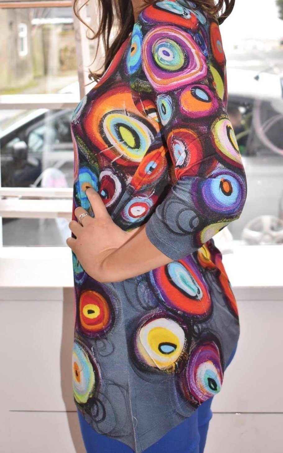 Simply Art Dolcezza: Colorblock Candy Bowls Glam Art Asymmetrical Tunic SOLD OUT
