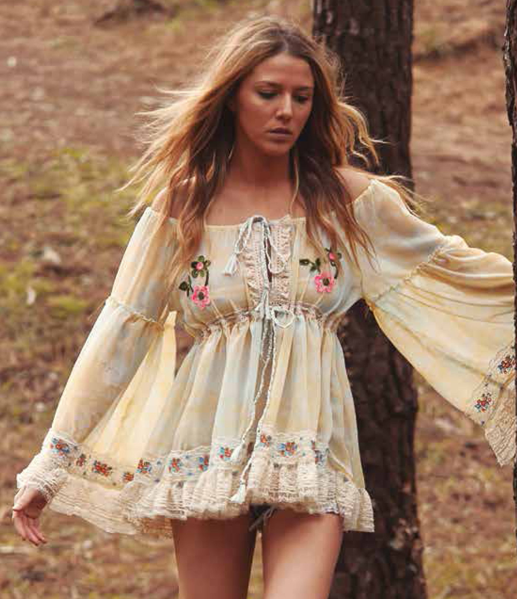 Savage Culture: Ruffled Baby Doll Petal Tunic Sicilia