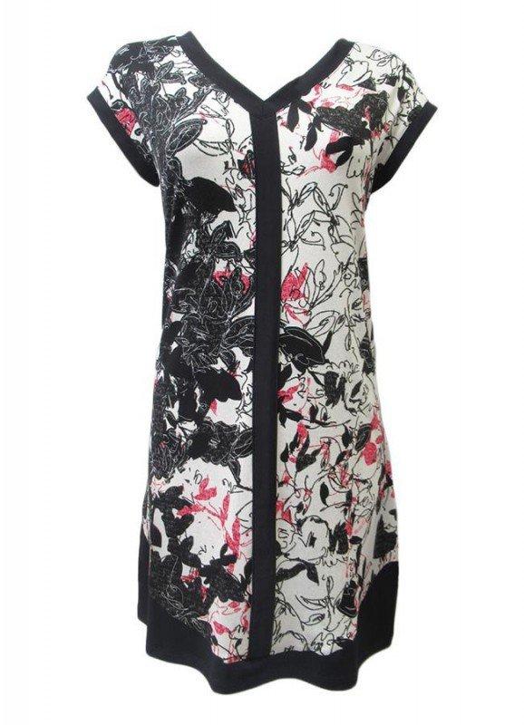 Maloka: Hot Pink Fantasy Angled Hem Midi Dress/Tunic SOLD OUT