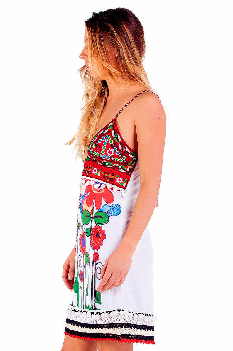 Savage Culture: Red Sunflower Bodice Dress Sorrento