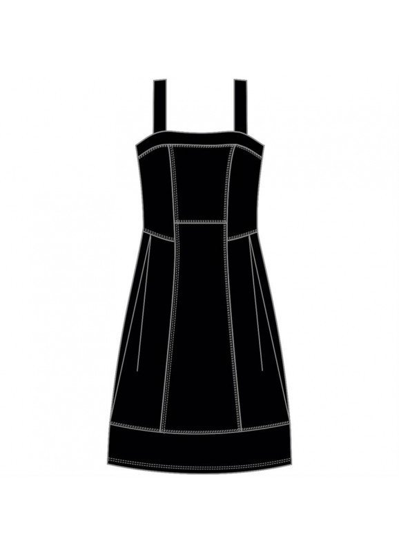 Maloka: Flirty Boxed Bodice Fit & Flare Dress (1 Left!)