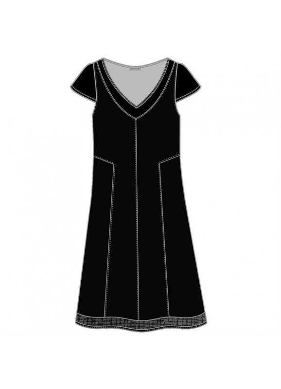 Maloka: Mesh Capped Sleeve Fit & Flare Party Dress (More Colors!)