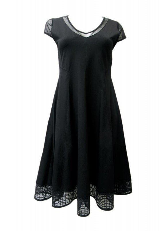 Maloka: Mesh Capped Sleeve Fit & Flare Party Dress SOLD OUT