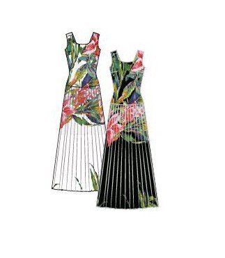 Paul Brial: Pleated Bow Back Cutout Maxi Dress (Few Left!)