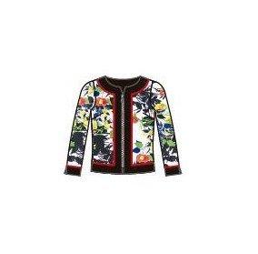 Paul Brial: Palma De Mallorca Nights Princess Seamed Zip Up Jacket