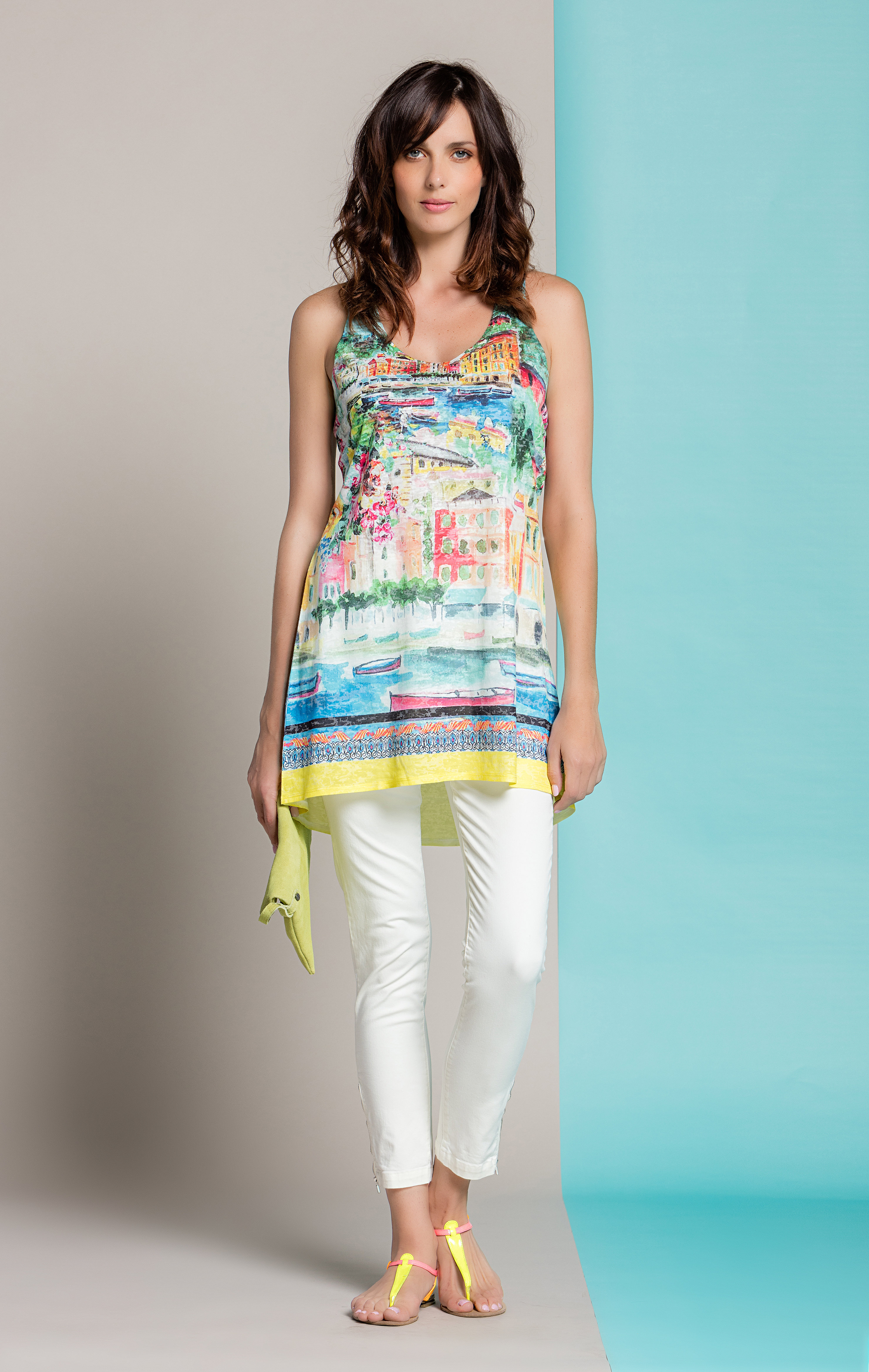 Paul Brial: Color Me Cinque Terre High Low Art Tunic