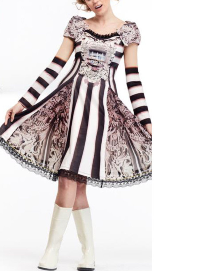 IPNG: A Cup Of Story Versailles Palace Illusion Flared Dress