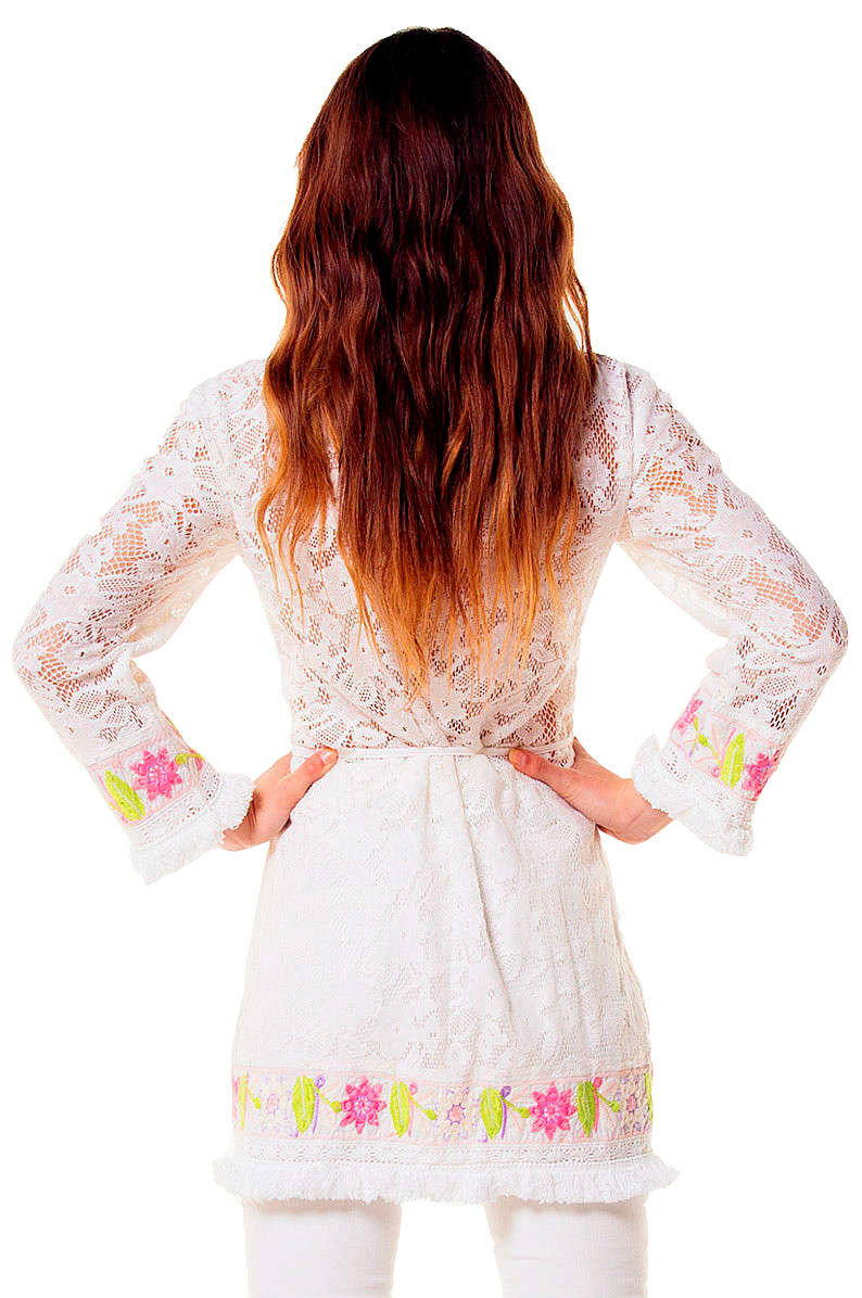 Savage Culture: Twinkle Little Star Embroidered Cotton Jacket/Cover up