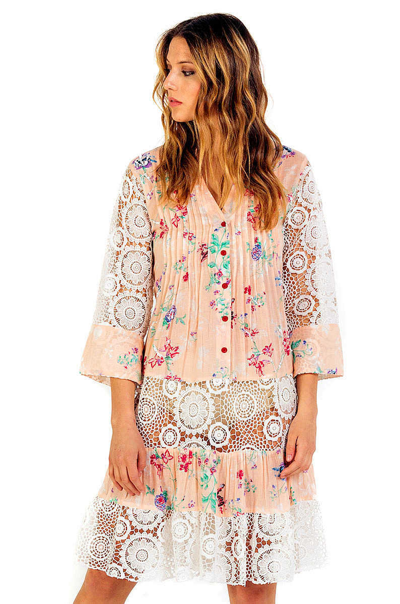 Savage Culture: Pink Daisy Arabesque Sundress/Tunic SVG_34623