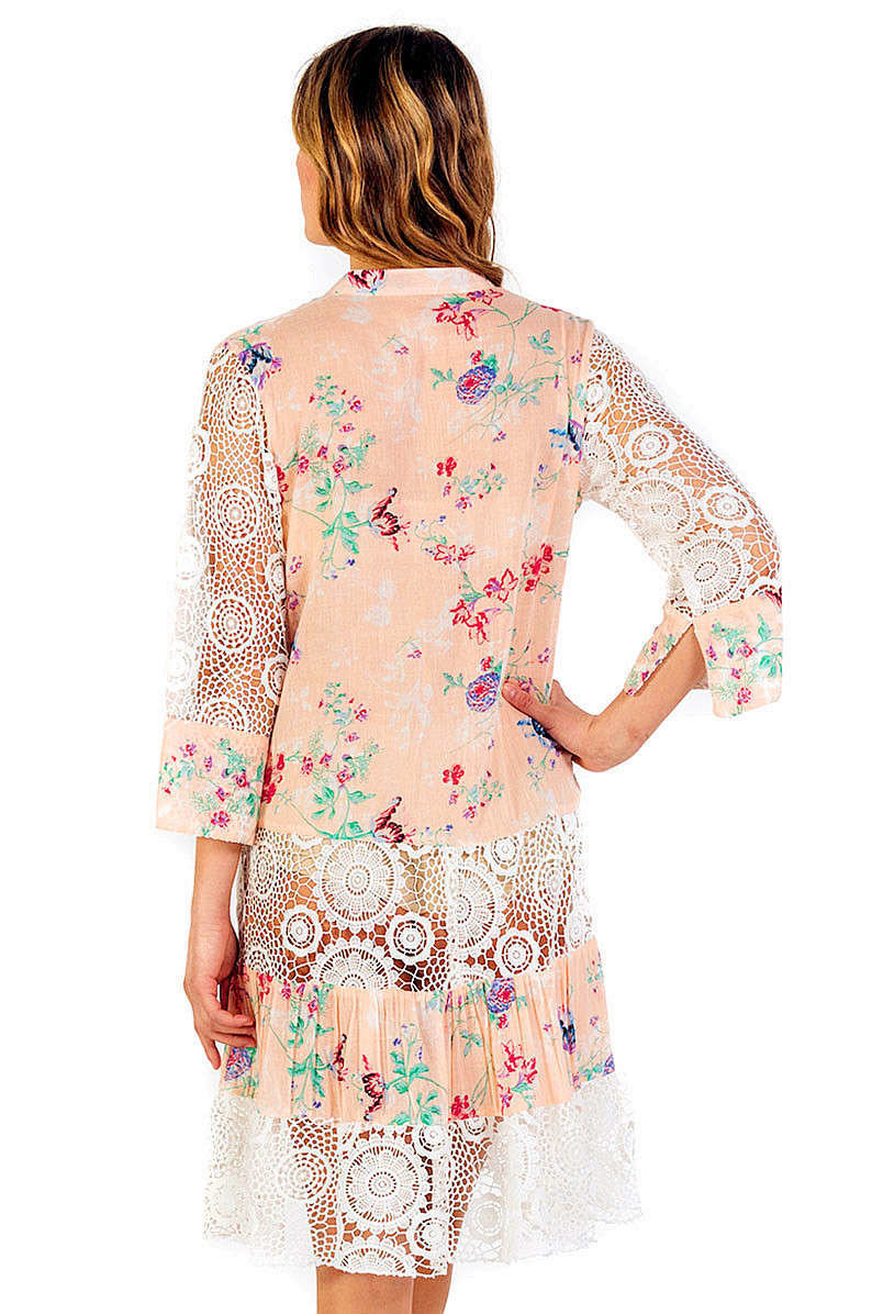 Savage Culture: Pink Daisy Arabesque Sundress/Tunic
