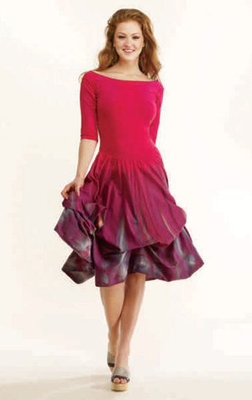 Luna Luz: Enchanting Feather Tied & Dyed Dress (Ships Immed in Rose & Black!)