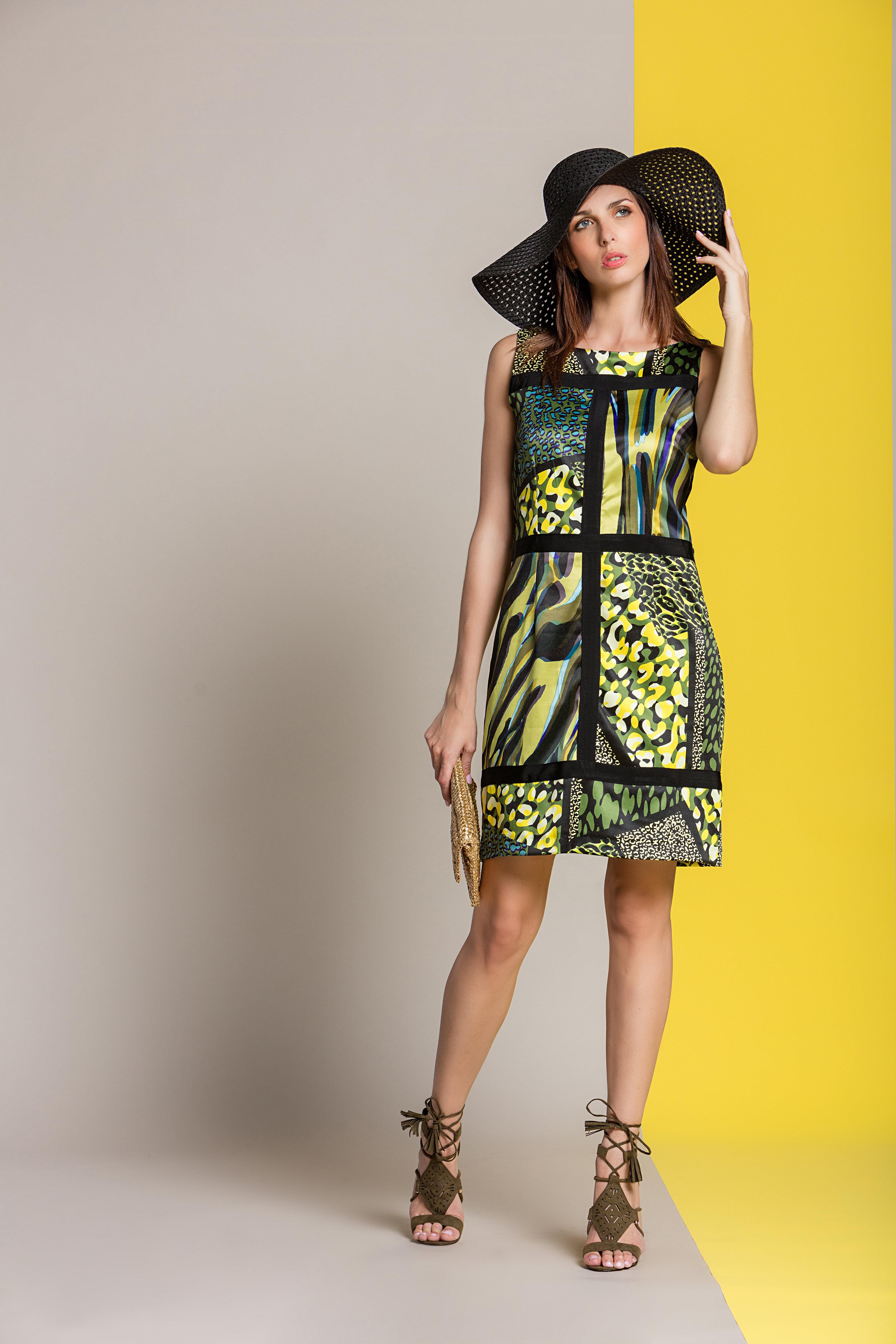 Paul Brial: Olive Martini Colorblock Sundress (1 Left!) PB_FREE