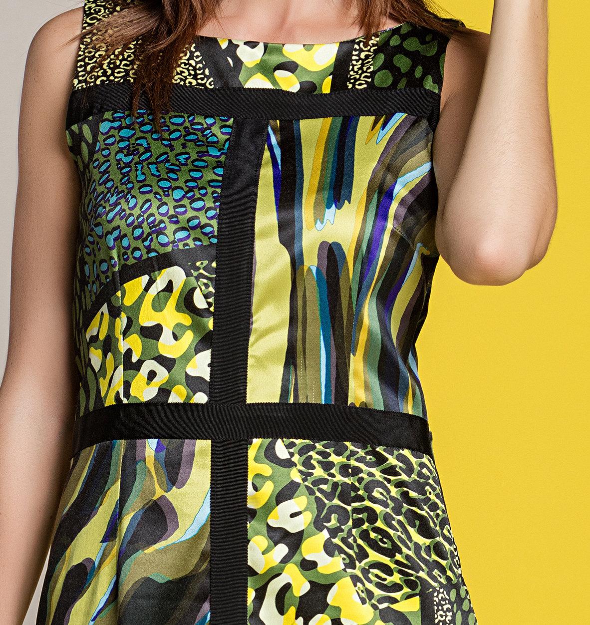Paul Brial: Olive Martini Colorblock Sundress (1 Left!)