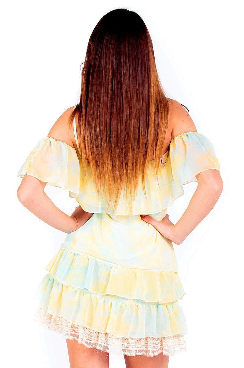 Savage Culture: So Sweet Cold Shoulder Ruffled Baby Doll Petal Dress Sicilia