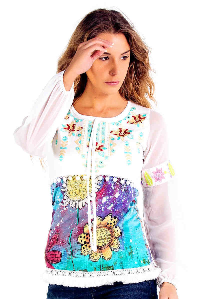Savage Culture: Twinkle Little Star Cotton Tunic Amalfi