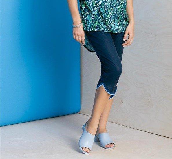 Maloka: Petal Hem Cropped Linen Denim Pant MK_PHOEBE