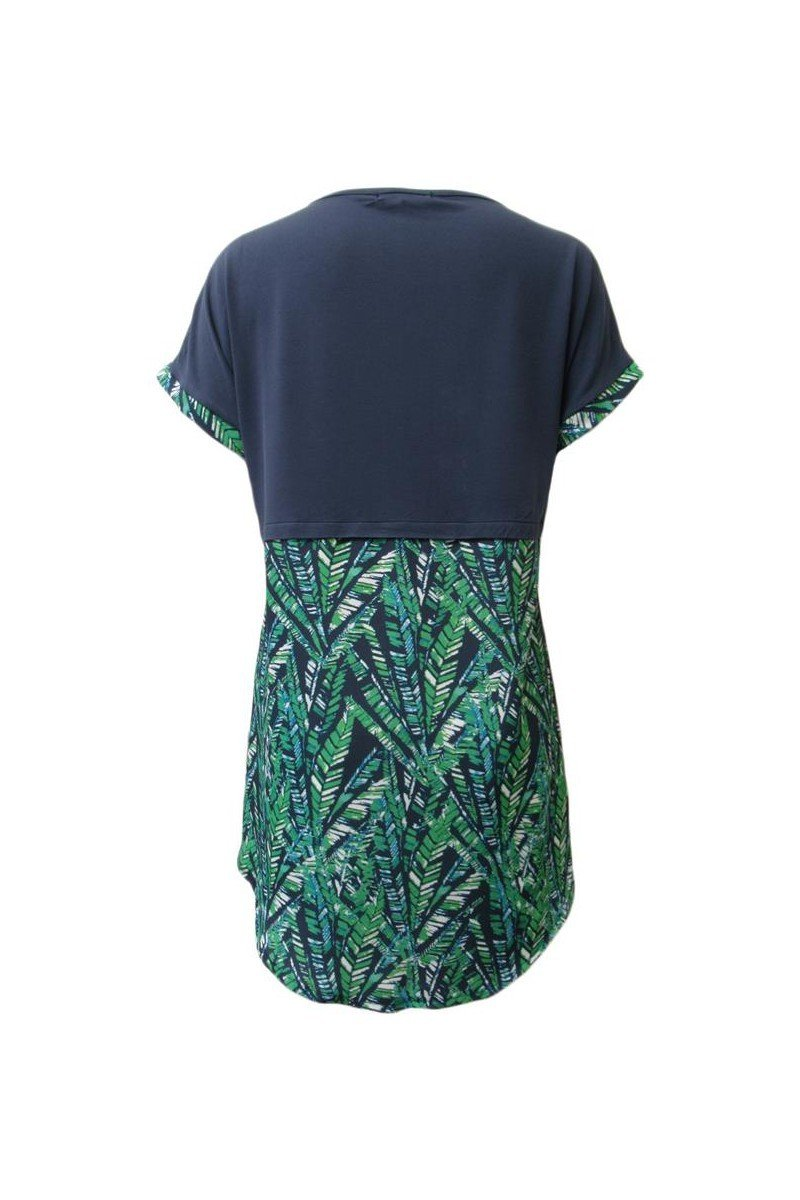 Maloka: Palm Tree Mixed Media High Low Tunic