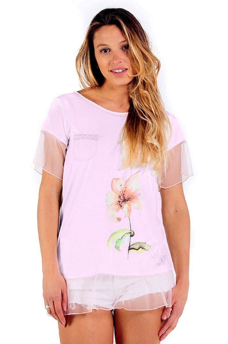 Savage Culture: Blush Pink Daisy Pocket Tunic Ischia SAVAGE_34005_N
