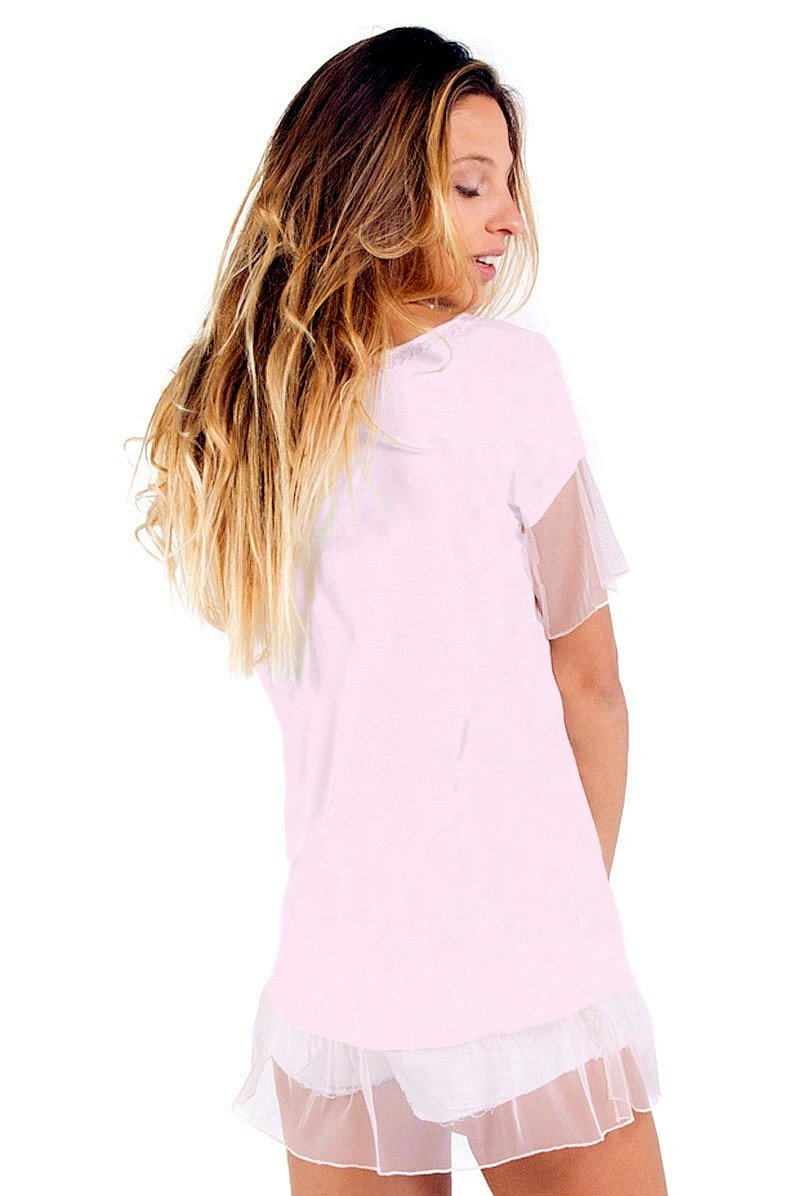 Savage Culture: Blush Pink Daisy Pocket Tunic Ischia