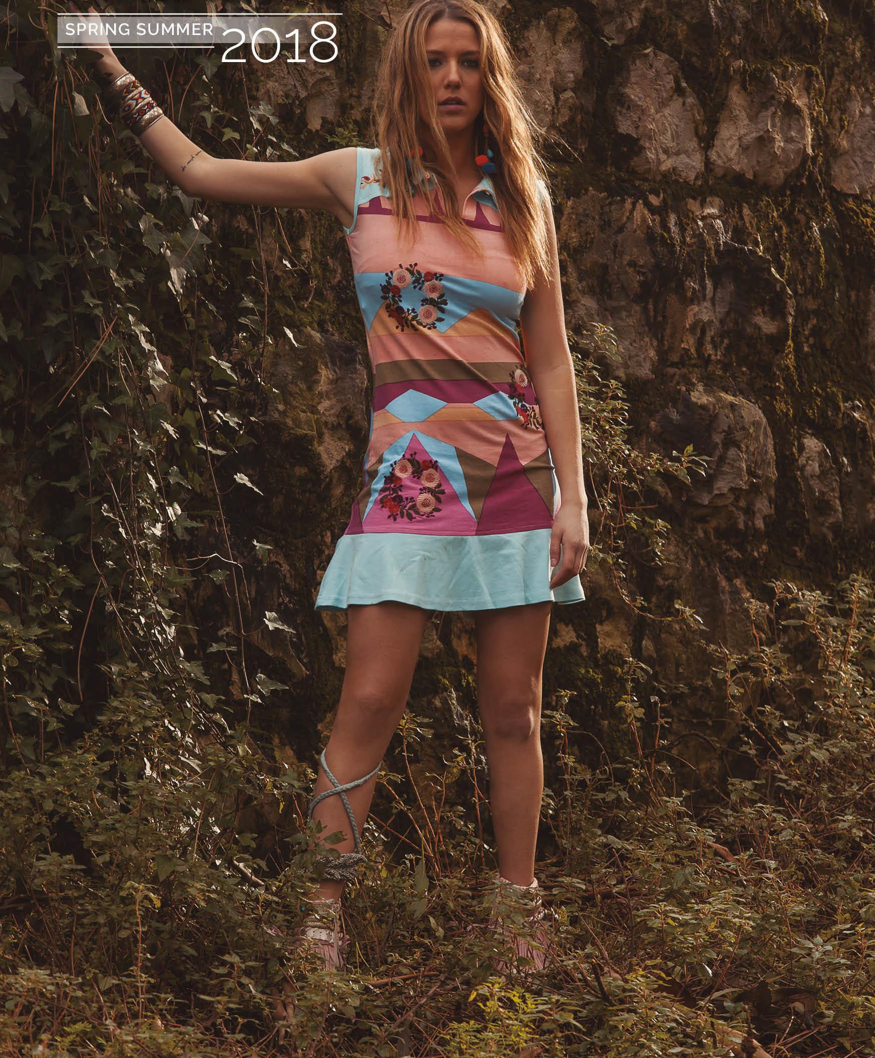 Savage Culture: Colors Of Venecia T-Shirt Ruffled Dress/Tunic SAVAGE_34100