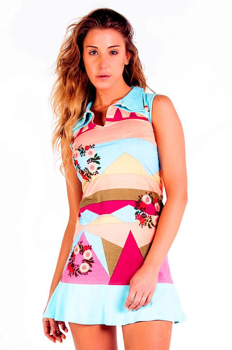 Savage Culture: Colors Of Venecia T-Shirt Ruffled Dress/Tunic
