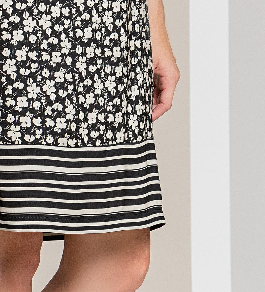 Paul Brial: Frill Draped Bodice Blush Flower Midi Dress