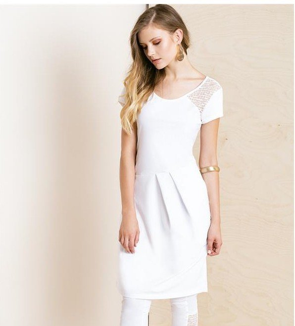 Maloka: Asymmetrical Pleat Midi Dress/Tunic (More Colors!) MK_KYLE