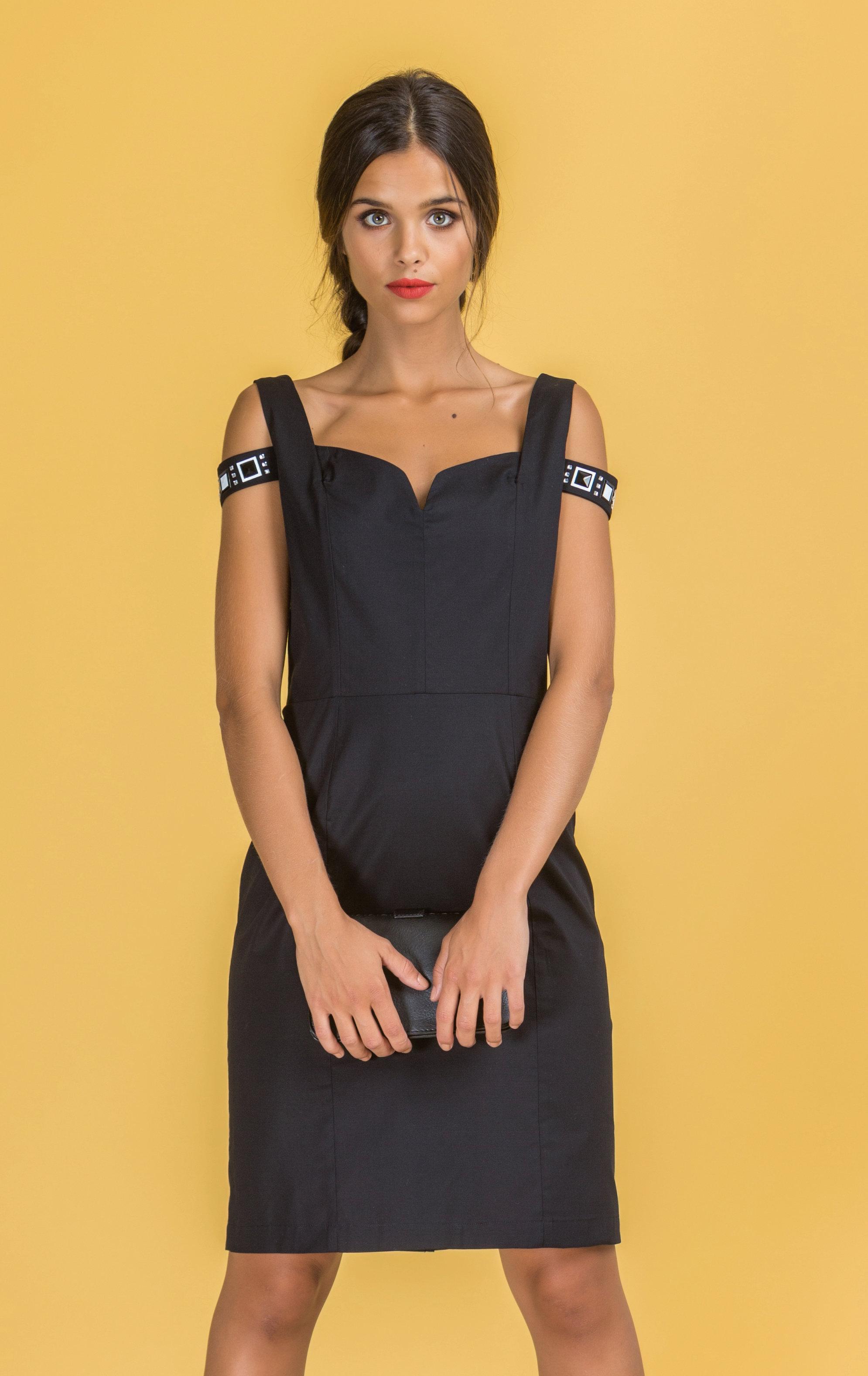 Paul Brial: Sweetheart Bodice Cut Out Shoulder Sexy Vixen Dress PB_MATHILDE