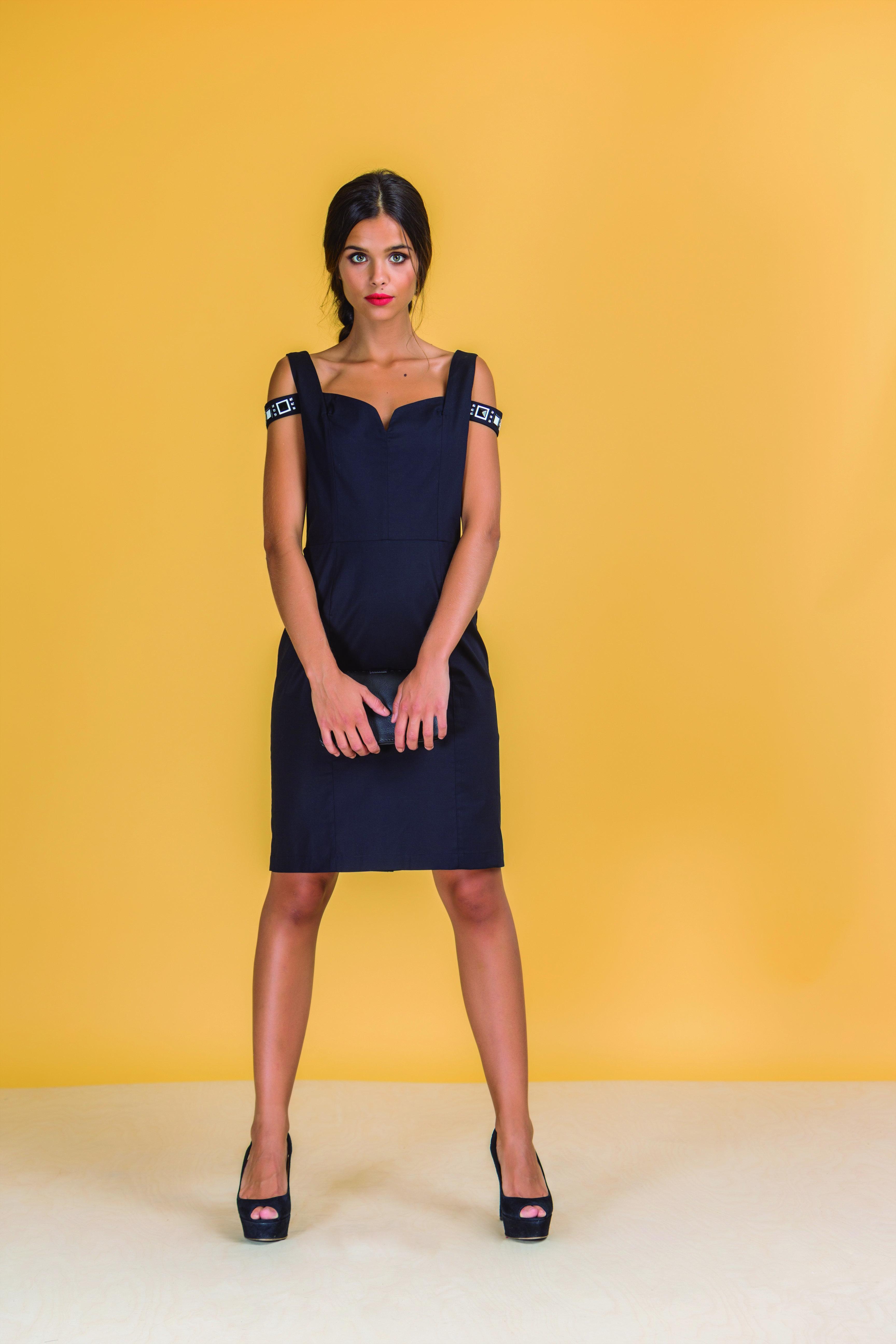 Paul Brial: Sweetheart Bodice Cut Out Shoulder Sexy Vixen Dress
