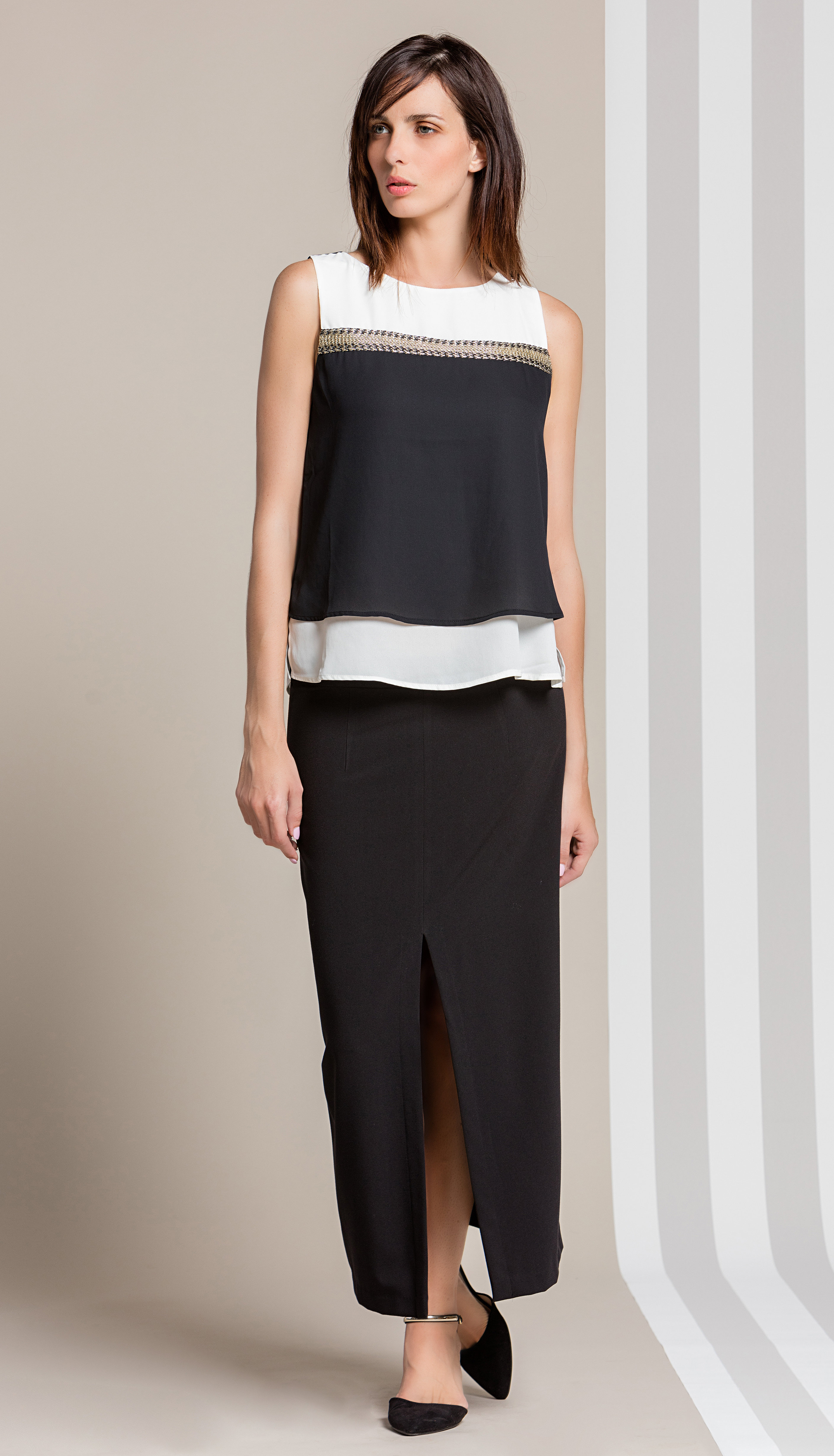 Paul Brial: Waves Colorblock Bling Tunic SOLD OUT