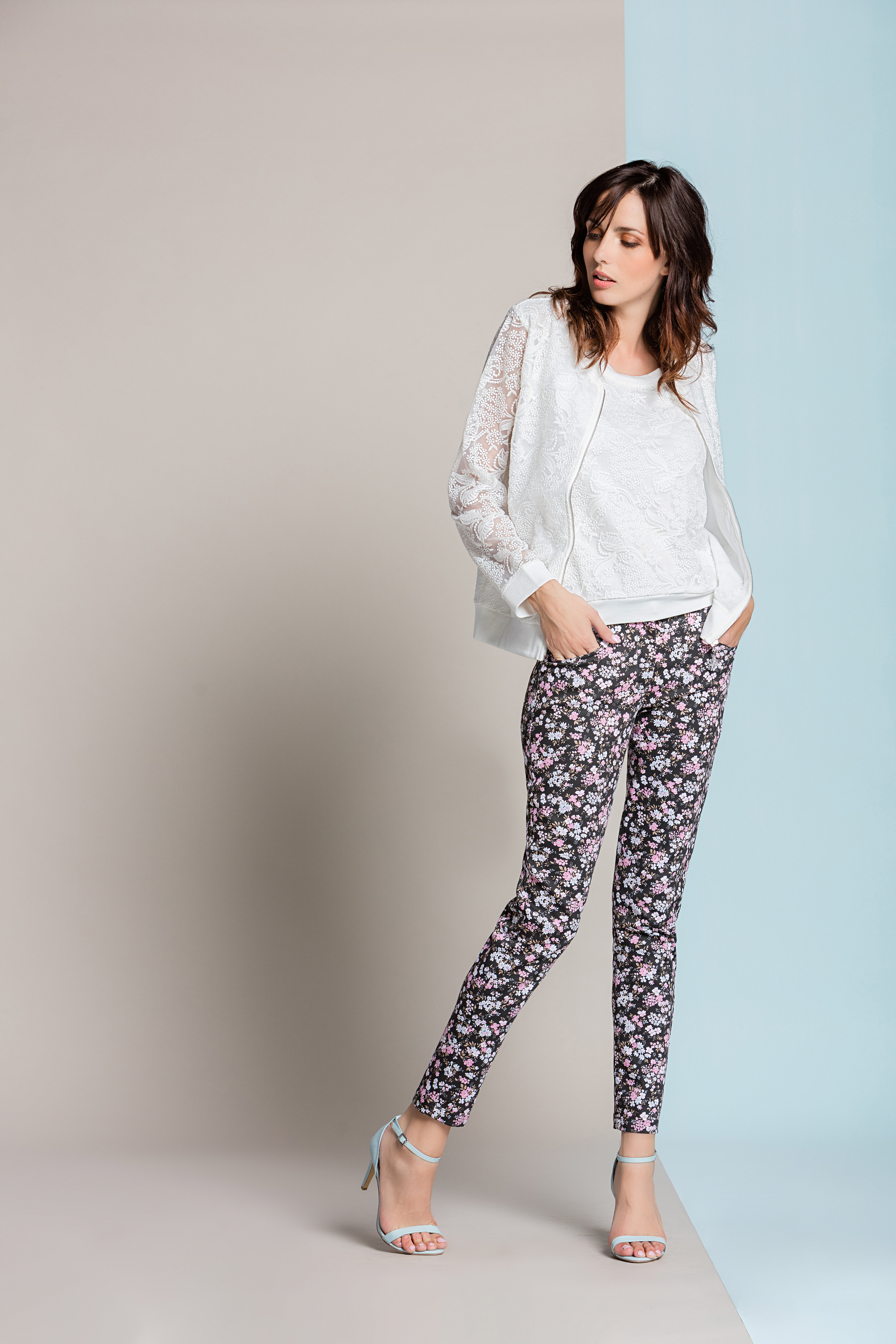 Paul Brial: Blush Flower Princess Seamed Cotton Pocket Pant SOLD OUT