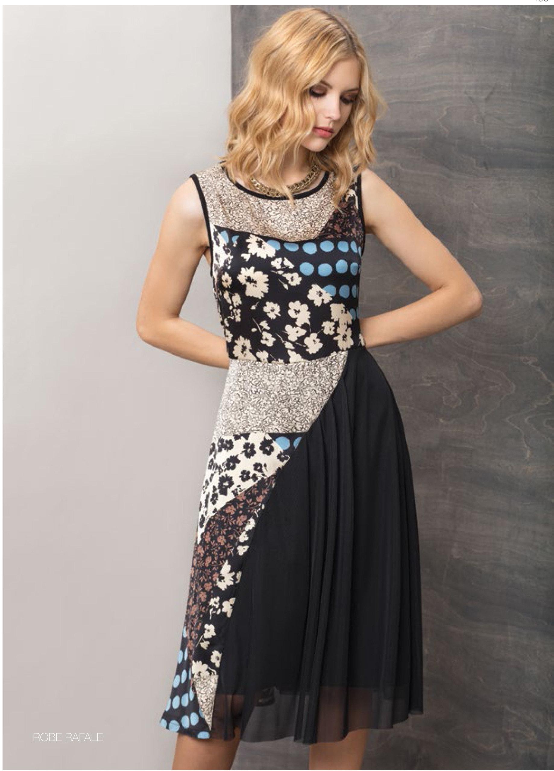 Maloka: Romantic Asymmetrical Petal Pieced Midi Dress MK_RAFALE