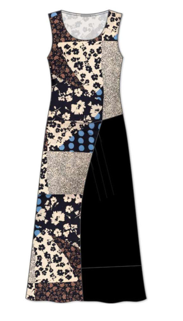 Maloka: Romantic Asymmetrical Petal Pieced Midi Dress