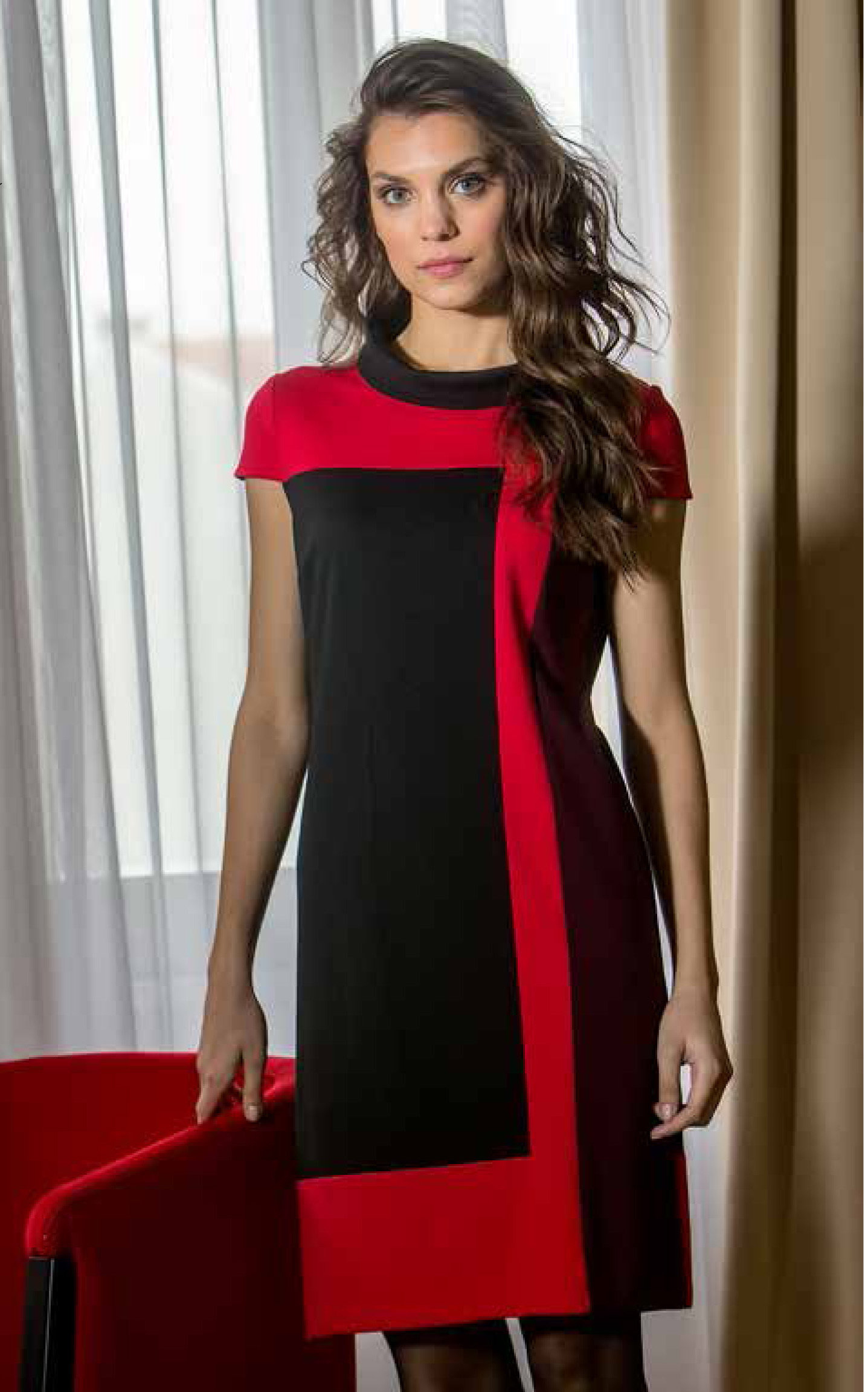Paul Brial: Red Passion Colorblock Dress (More Colors!) PB_PASSION