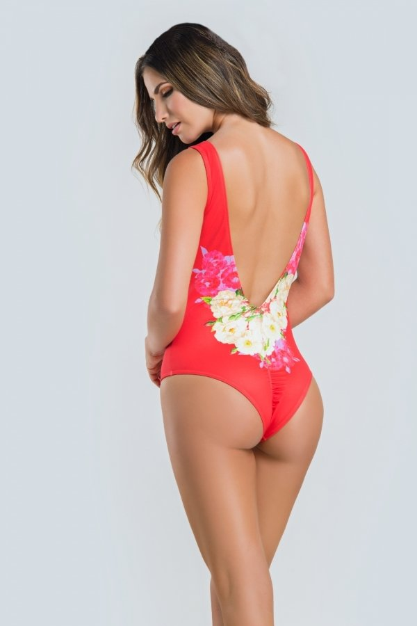 Paradizia Swimwear: Floral Tiger Keyhole One-piece Swimsuit