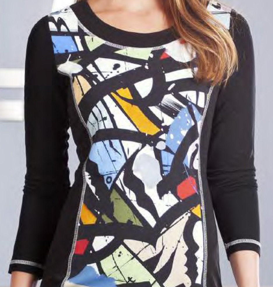 Simply Art Dolcezza: Gorgeous Graffiti Art Cotton Knit Dress/Tunic (2 Left!)