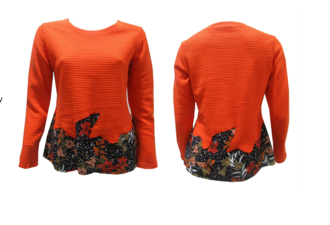 Maloka: Orange Rose Asymmetrical Waist Tunic (More Colors!)