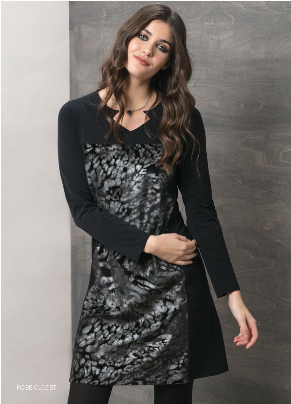 Maloka: Princess Seamed Velvet Bodice Dress MK_CLODET