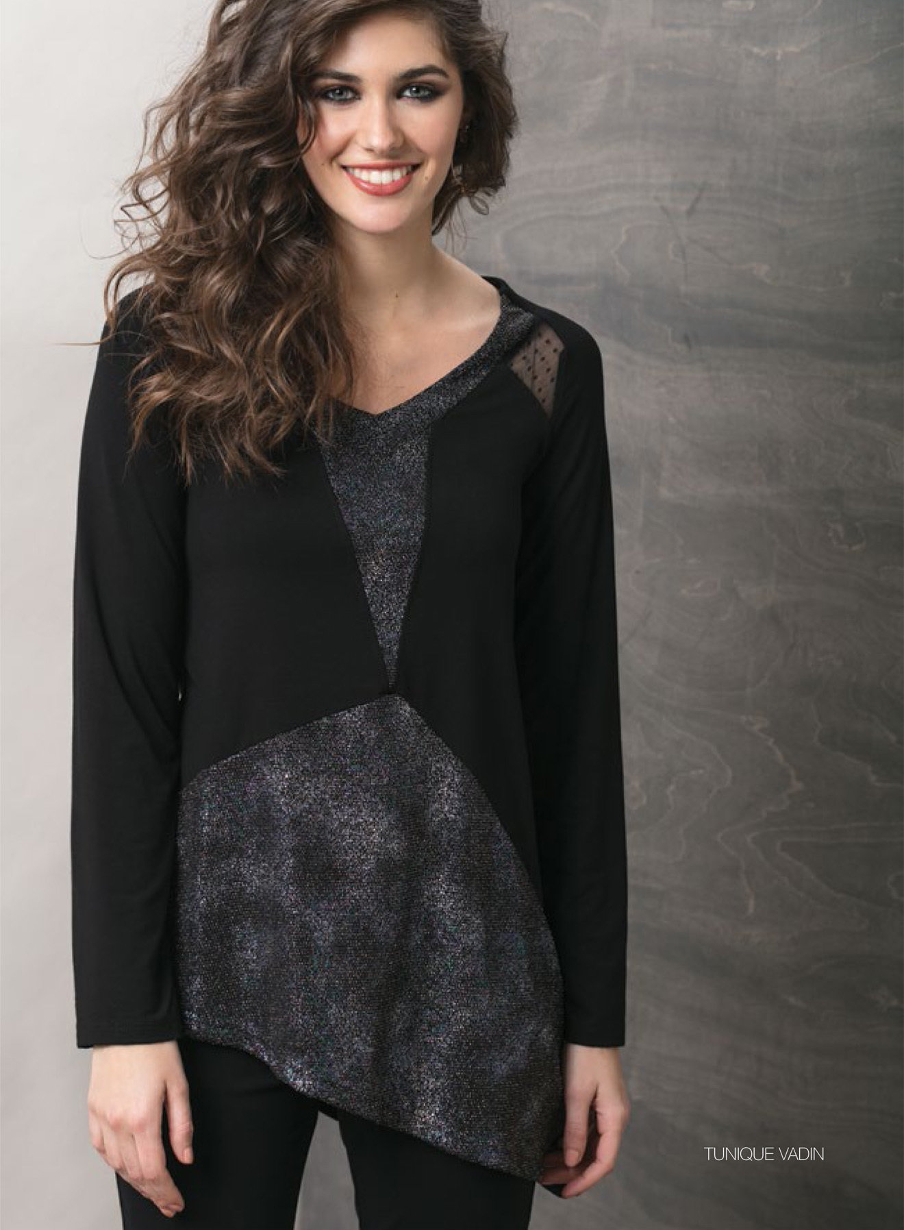 Maloka: Starry Night Asymmetrical Tunic (1 Left!) MK_VADIM