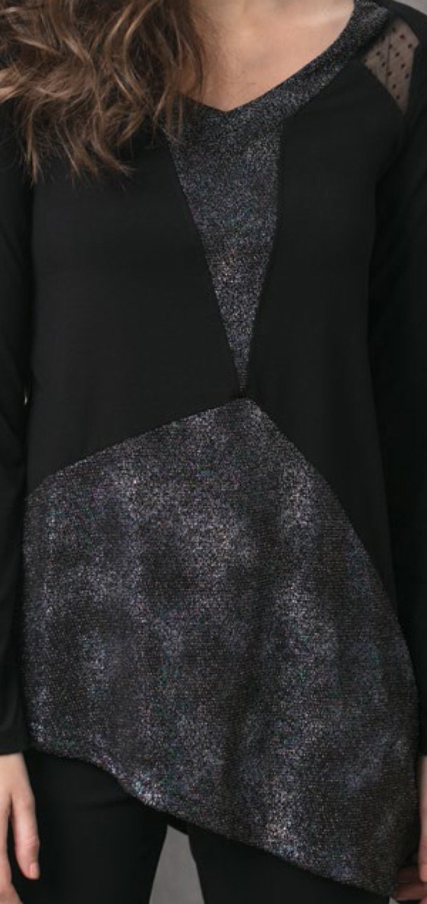 Maloka: Starry Night Asymmetrical Tunic (1 Left!)