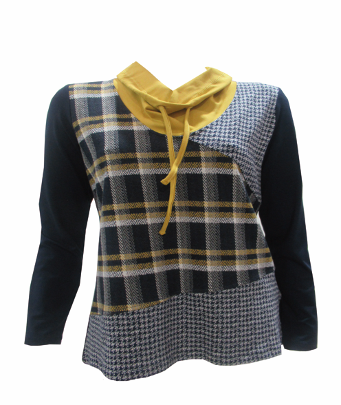 Maloka: Midnight Lemon Plaid Pieced Tunic (1 Left!)