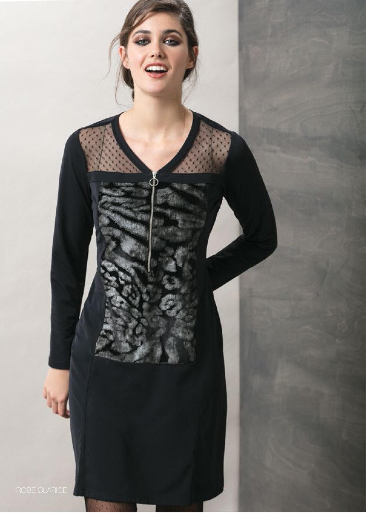 Maloka: Princess Seamed Velvet Zip Dress (Few Left!) MK_CLARICE