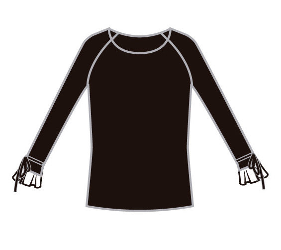 Paul Brial: Irresistible Noir Ribbon Cuffed Sweater Opera