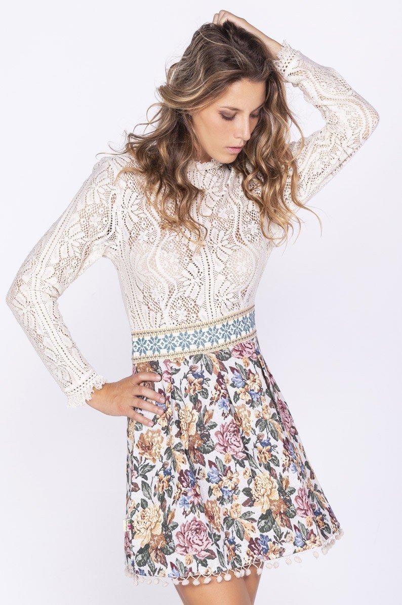 Savage Culture: Floral Flutter Cotton Dress Indo SAVAGE_35531_N
