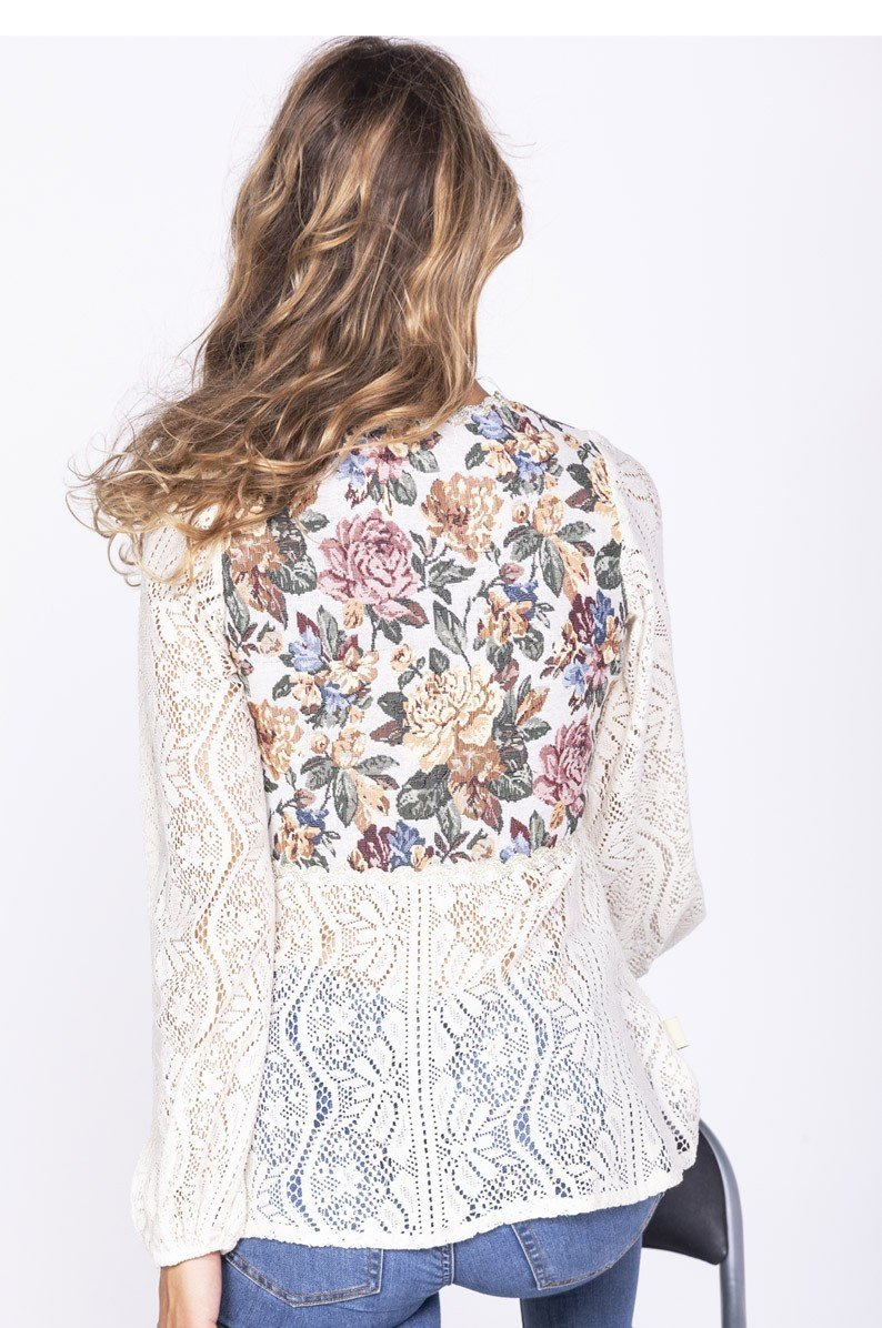 Savage Culture: Floral Flutter Cotton Tunic Indo