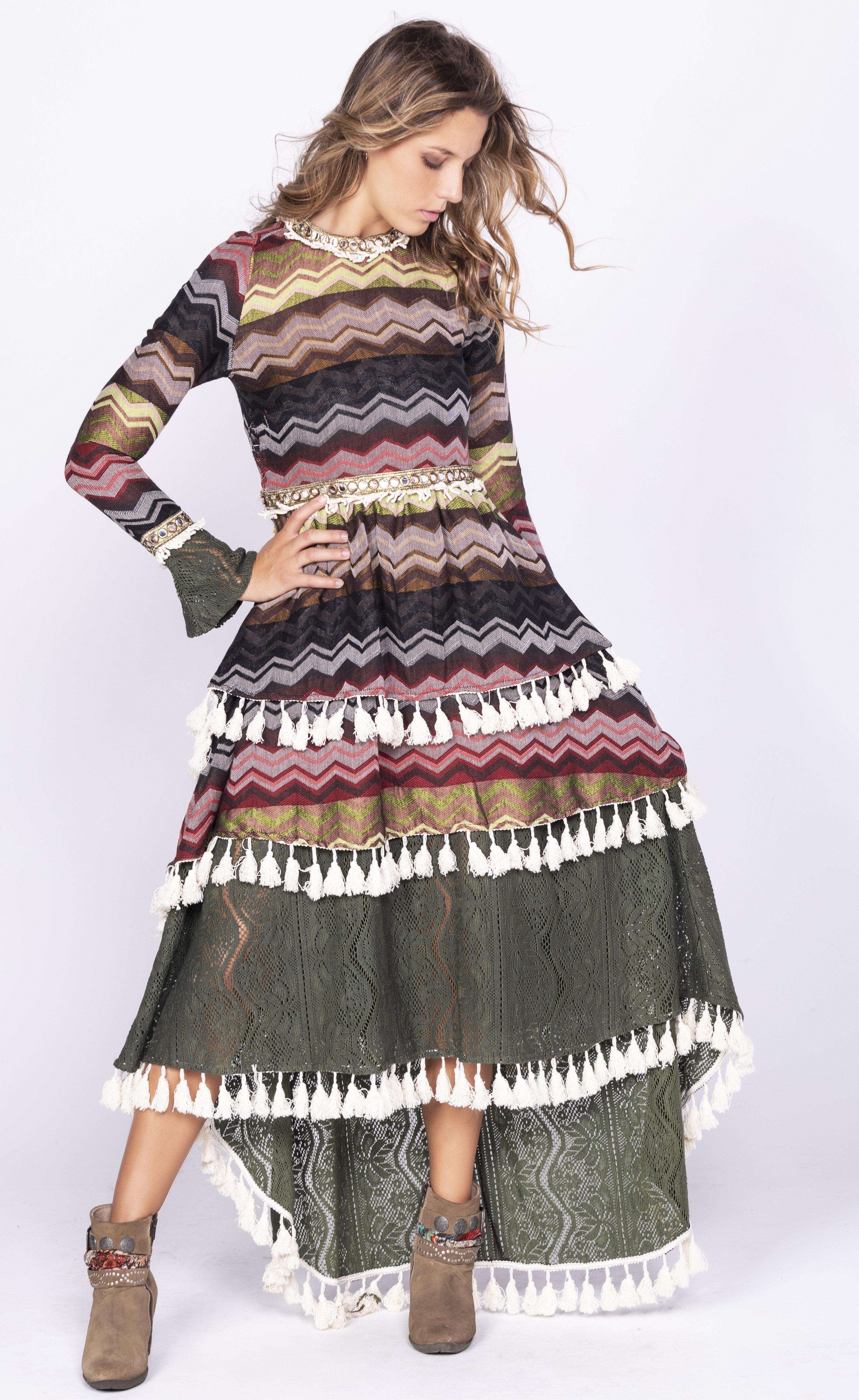 Savage Culture: Layers Of Boho Fun Dress Chambal SAVAGE_35514