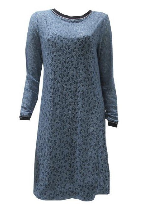 Maloka: Blue Rose Petal Imprinted Midi Dress