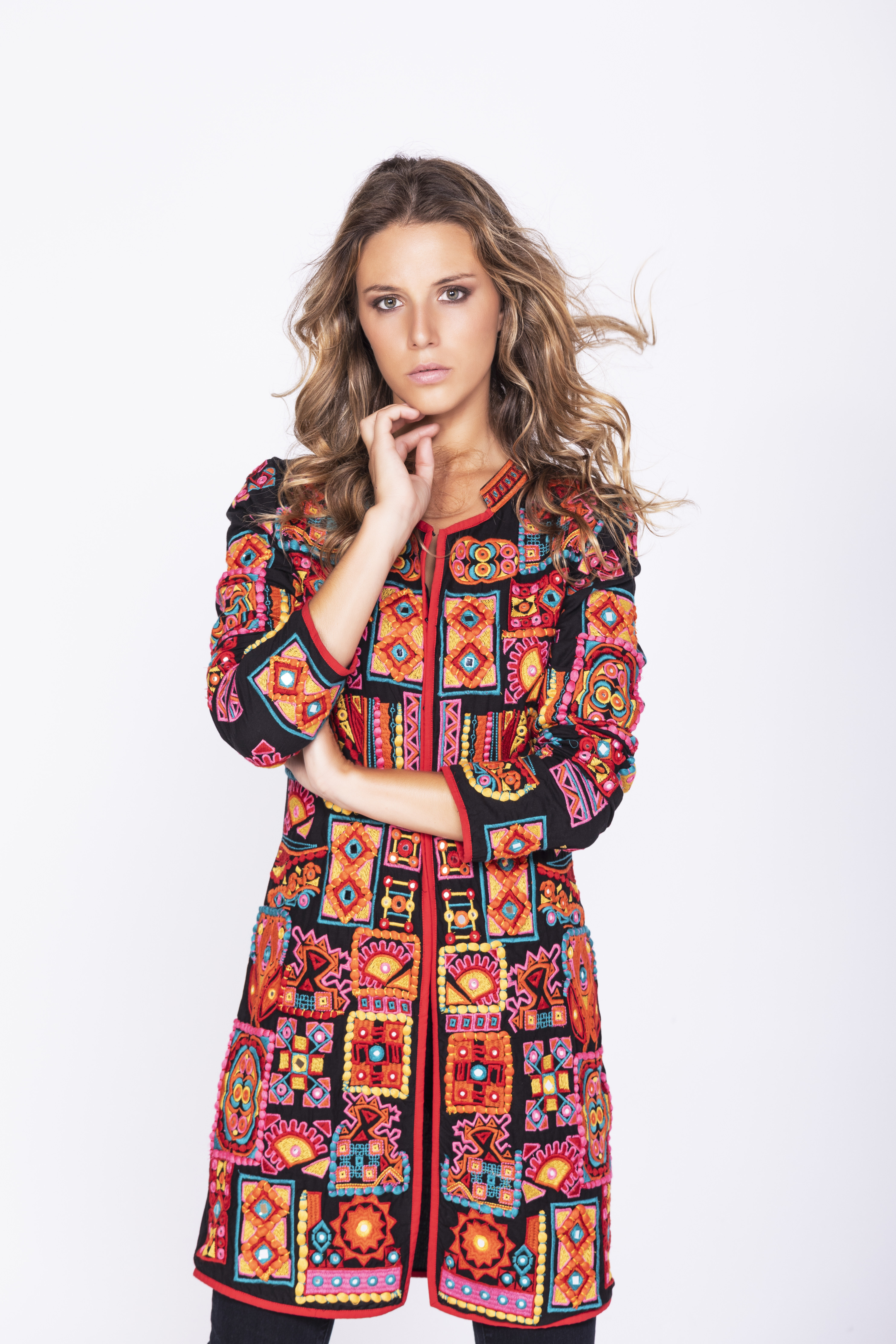 Savage Culture: Pink Sand Beach Cotton Coat Sarayu SAVAGE_35670